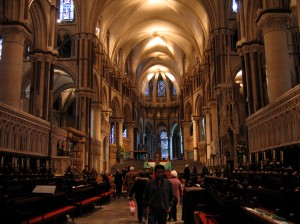 Interior of Canterbury Cathedral.