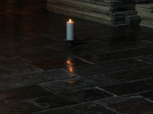 Candle marking the site of St. Thomas Becket's murder.