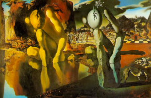 "Salvadore Dali's ""Metamorphosis of Narcissus"""